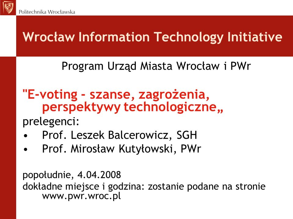 Wrocław Information Technology Initiative