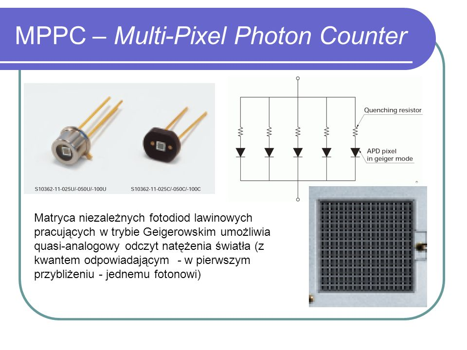 MPPC – Multi-Pixel Photon Counter