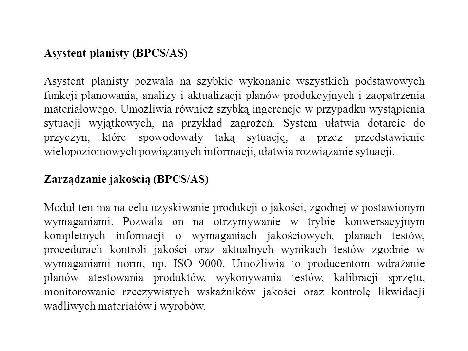 Asystent planisty (BPCS/AS)
