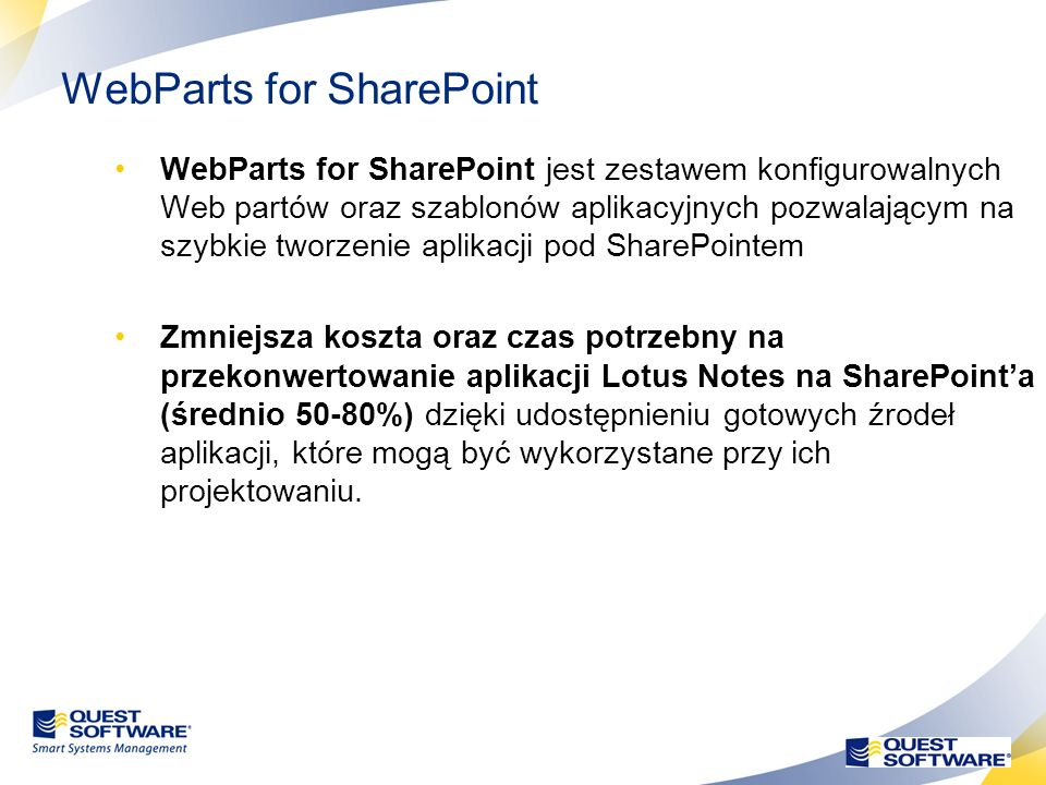 WebParts for SharePoint