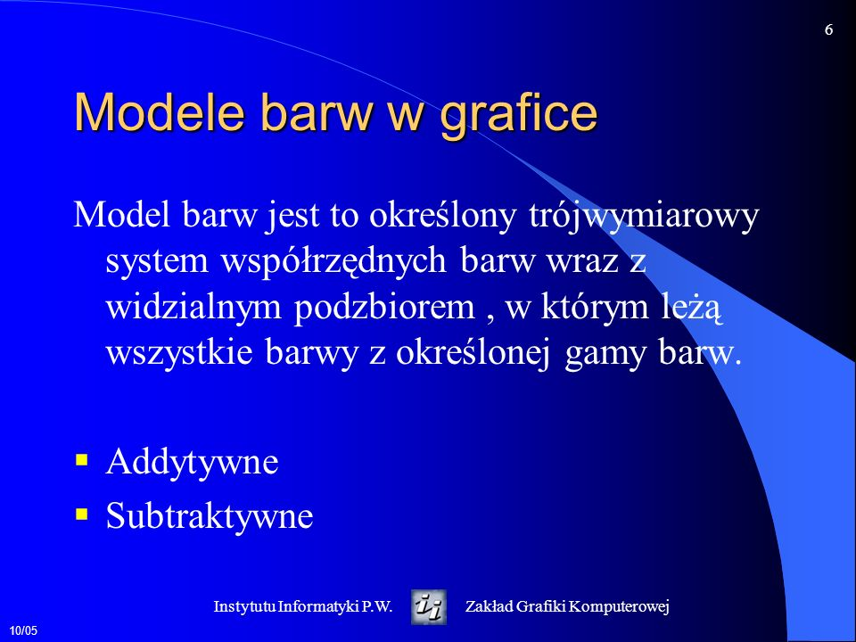 Modele barw w grafice
