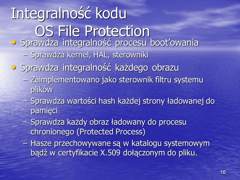 Integralność kodu OS File Protection