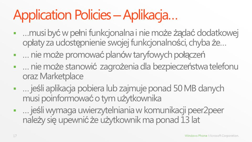 Application Policies – Aplikacja…