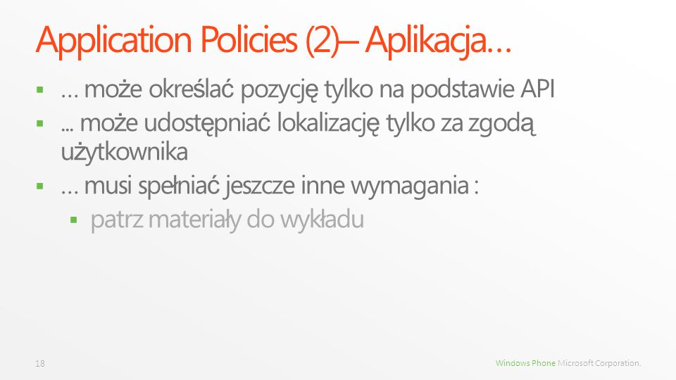 Application Policies (2)– Aplikacja…