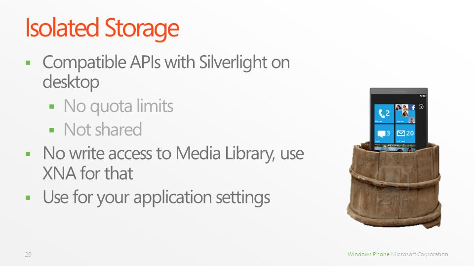 Isolated Storage Compatible APIs with Silverlight on desktop
