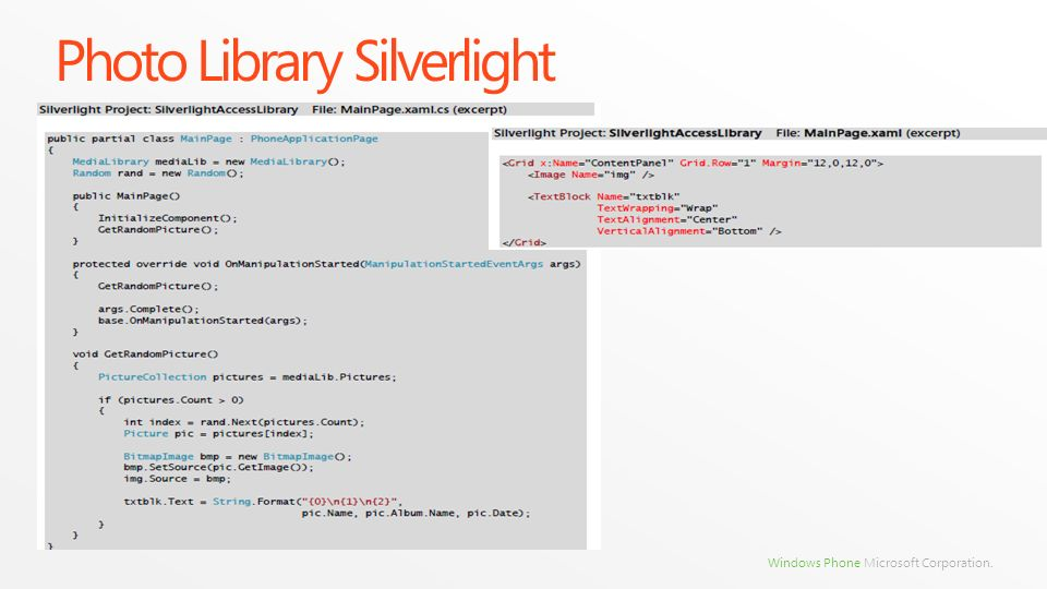 Photo Library Silverlight