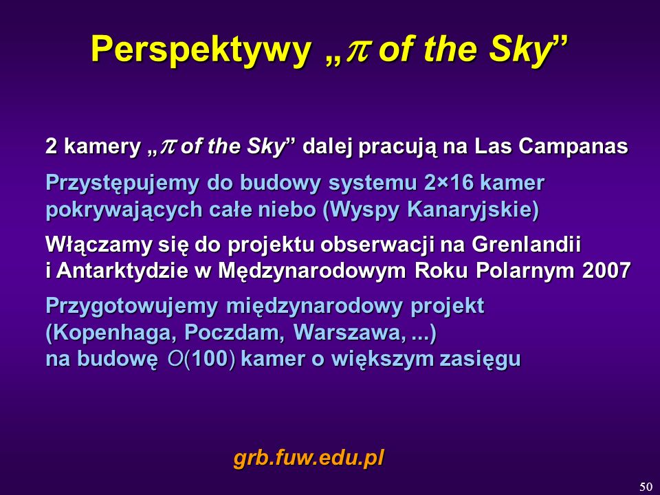 "Perspektywy ""p of the Sky"