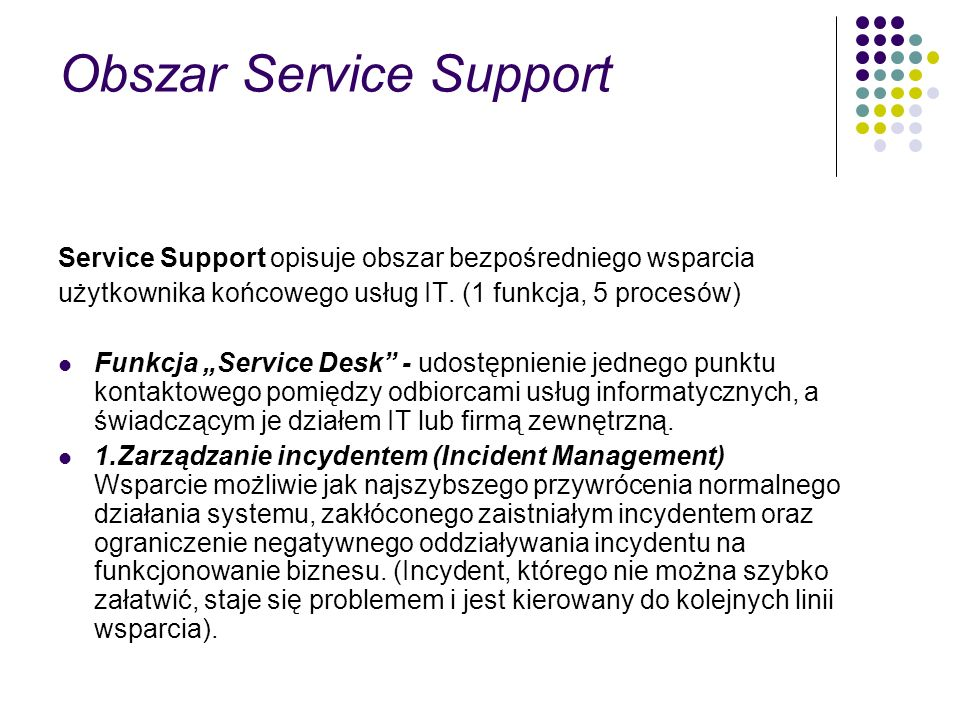 Obszar Service Support