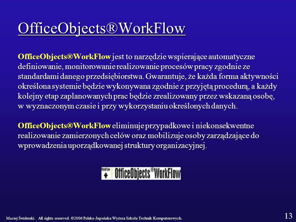 OfficeObjects®WorkFlow
