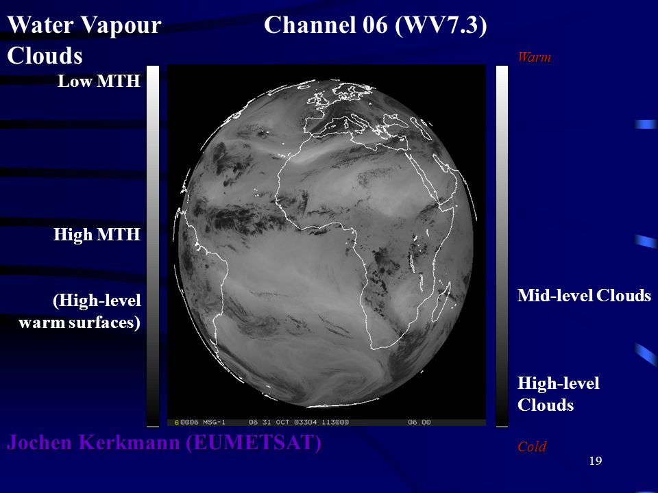 Water Vapour Channel 06 (WV7.3) Clouds