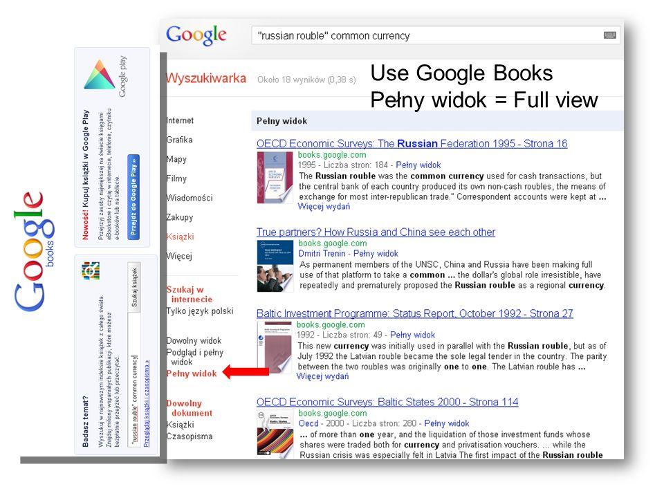 Use Google Books Pełny widok = Full view