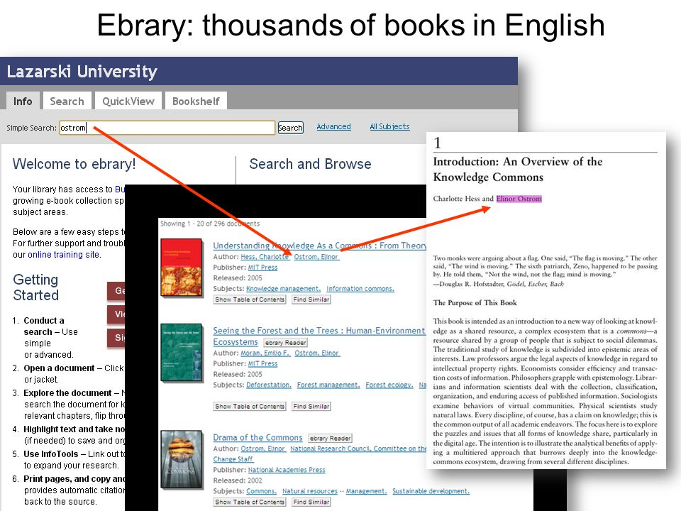 Ebrary: thousands of books in English