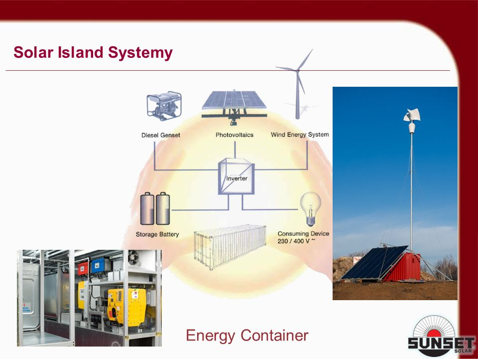 Solar Island Systemy Energy Container