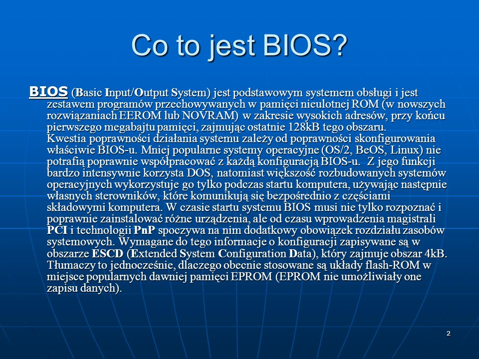 Co to jest BIOS