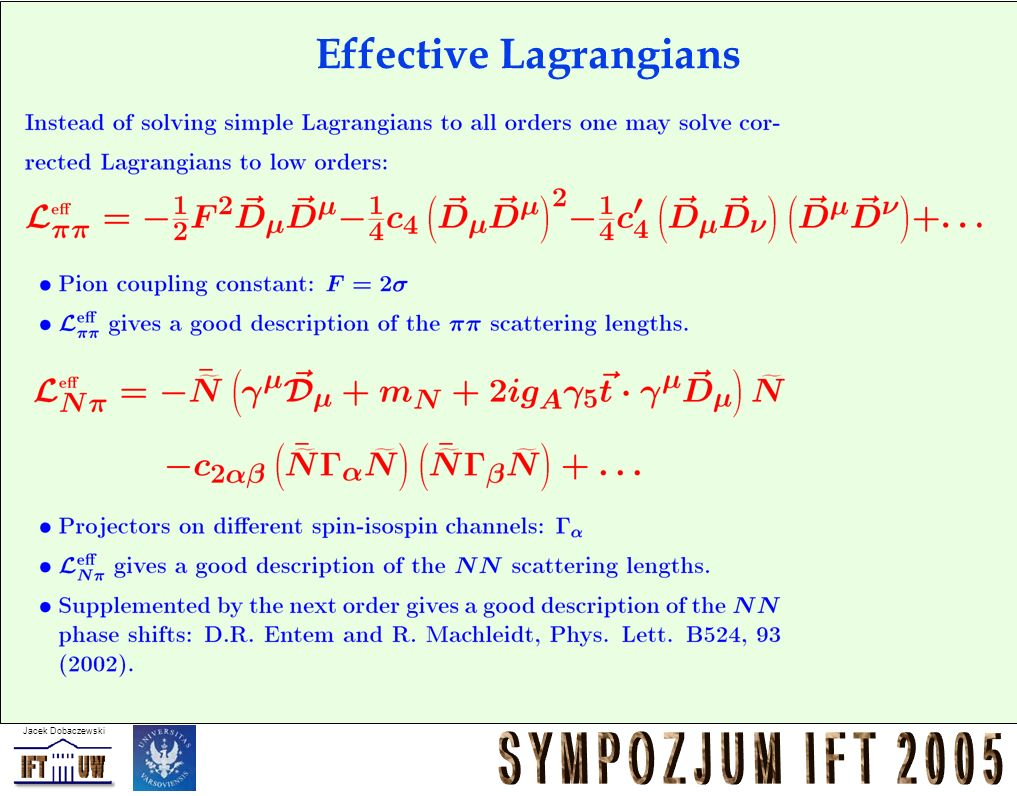 Effective Lagrangians