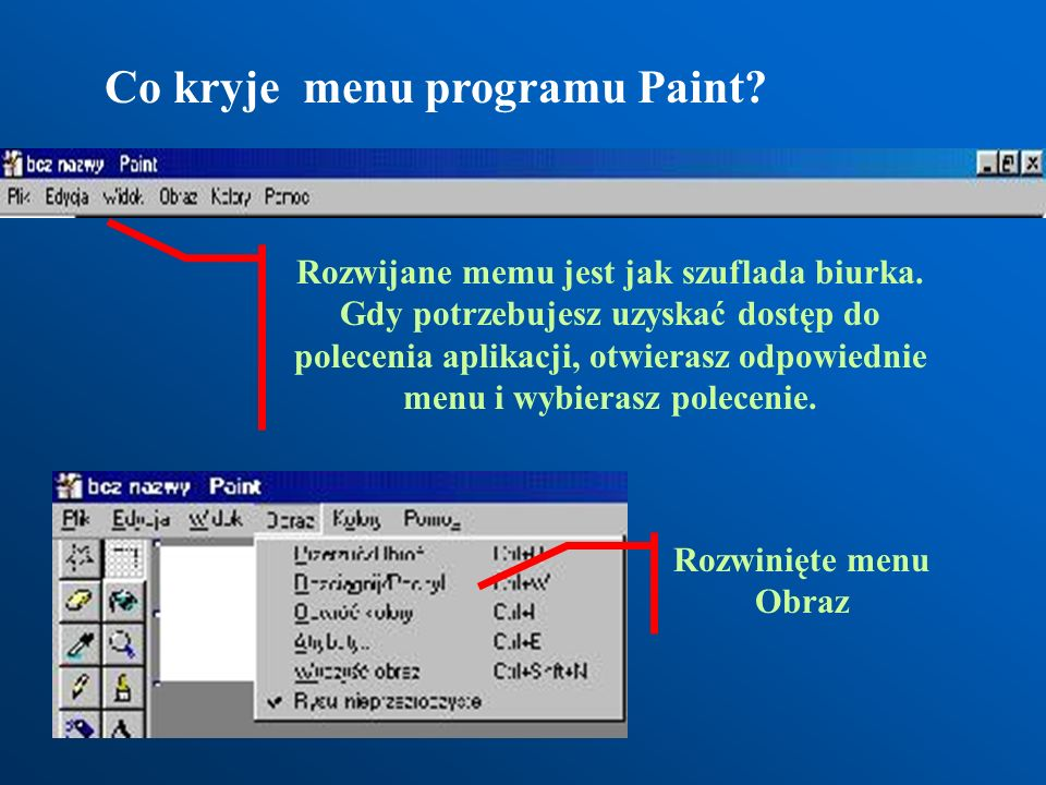 Co kryje menu programu Paint