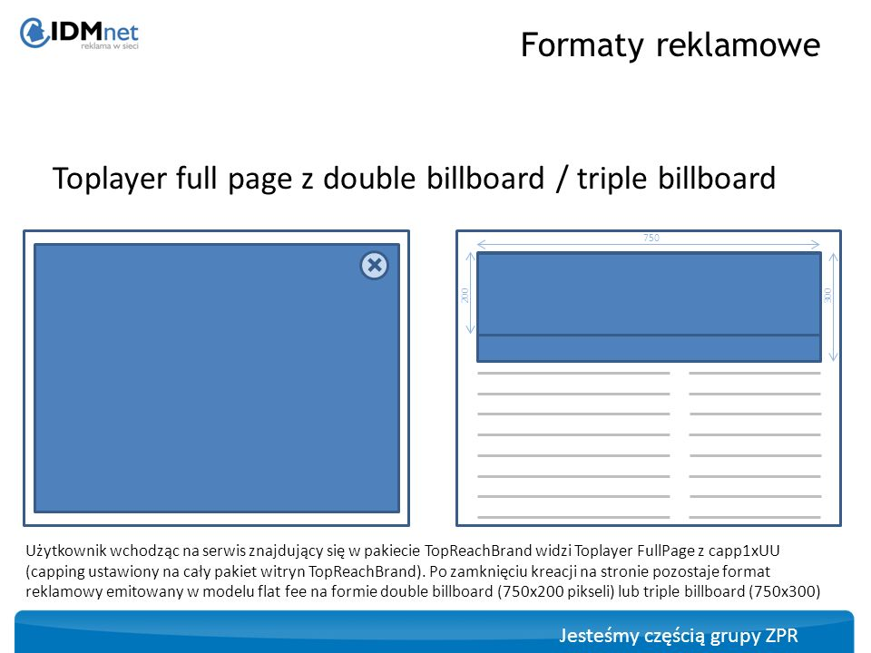 Toplayer full page z double billboard / triple billboard