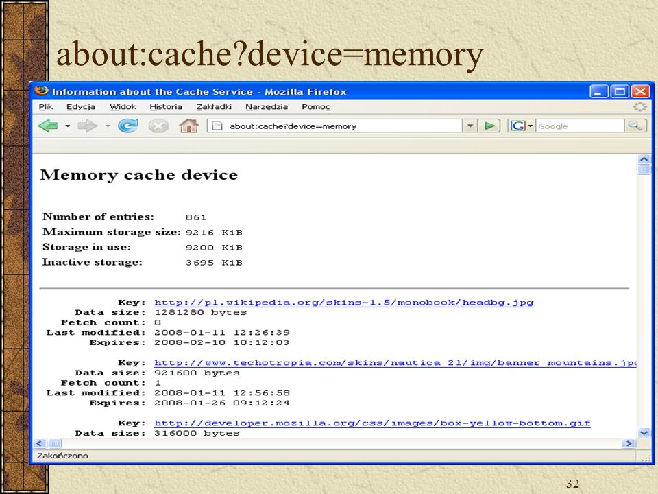about:cache device=memory