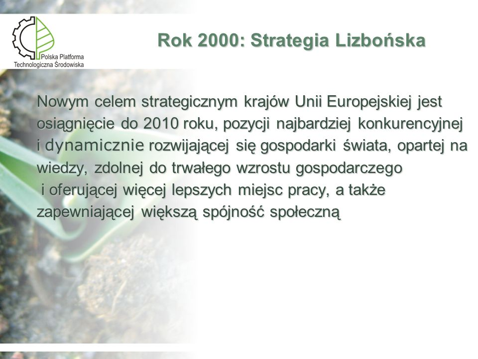 Rok 2000: Strategia Lizbońska