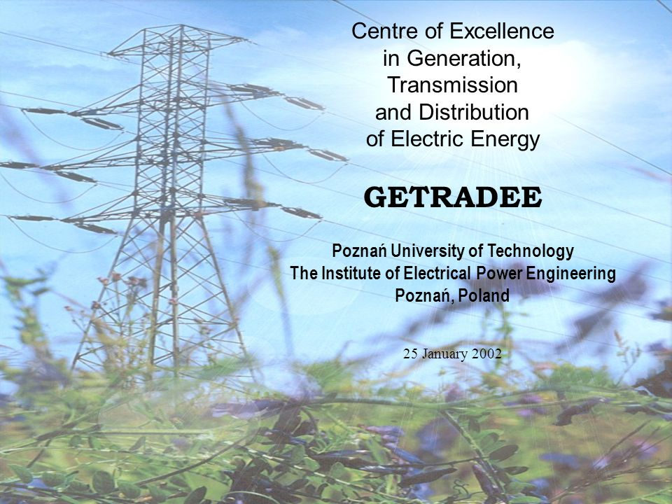 GETRADEE Centre of Excellence in Generation, Transmission