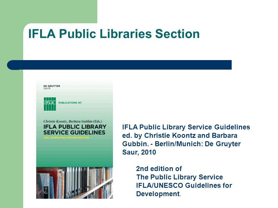 IFLA Public Libraries Section