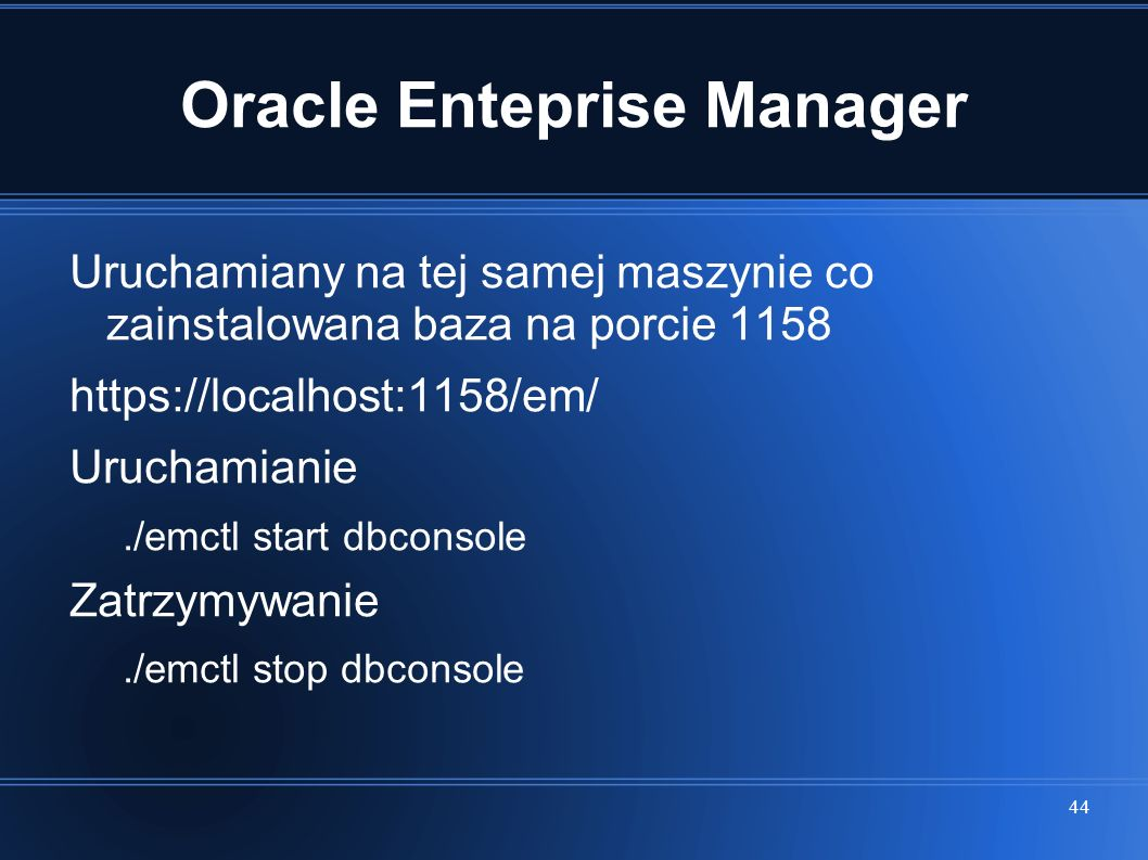 Oracle Enteprise Manager