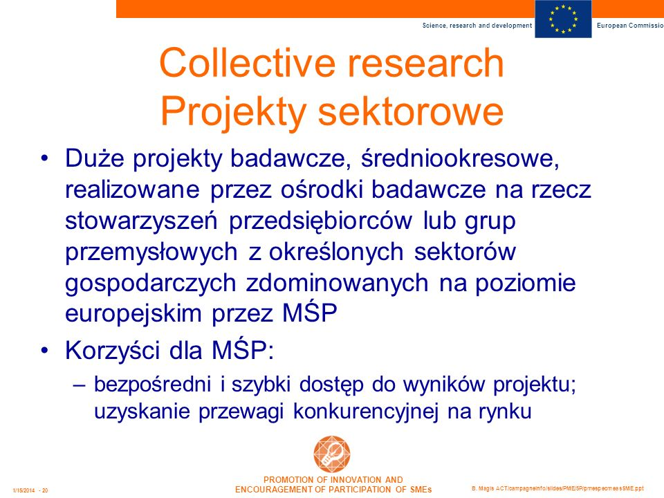 Collective research Projekty sektorowe