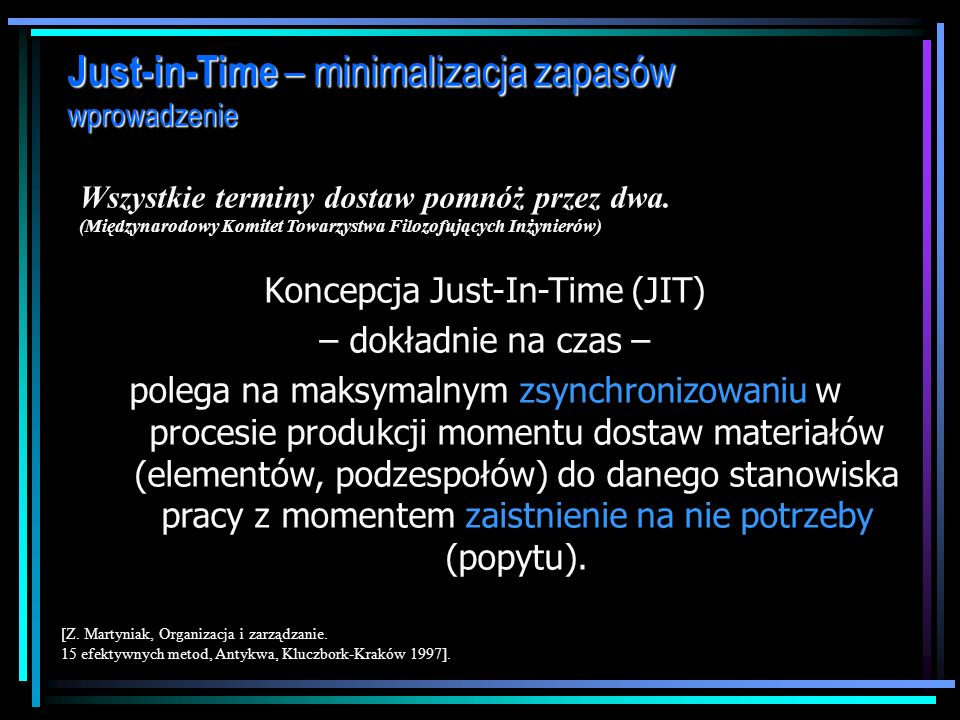 Koncepcja Just-In-Time (JIT)