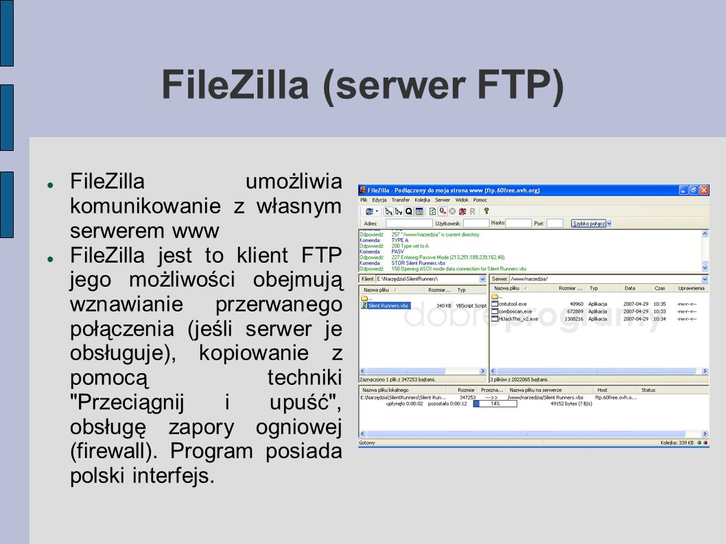 FileZilla (serwer FTP)