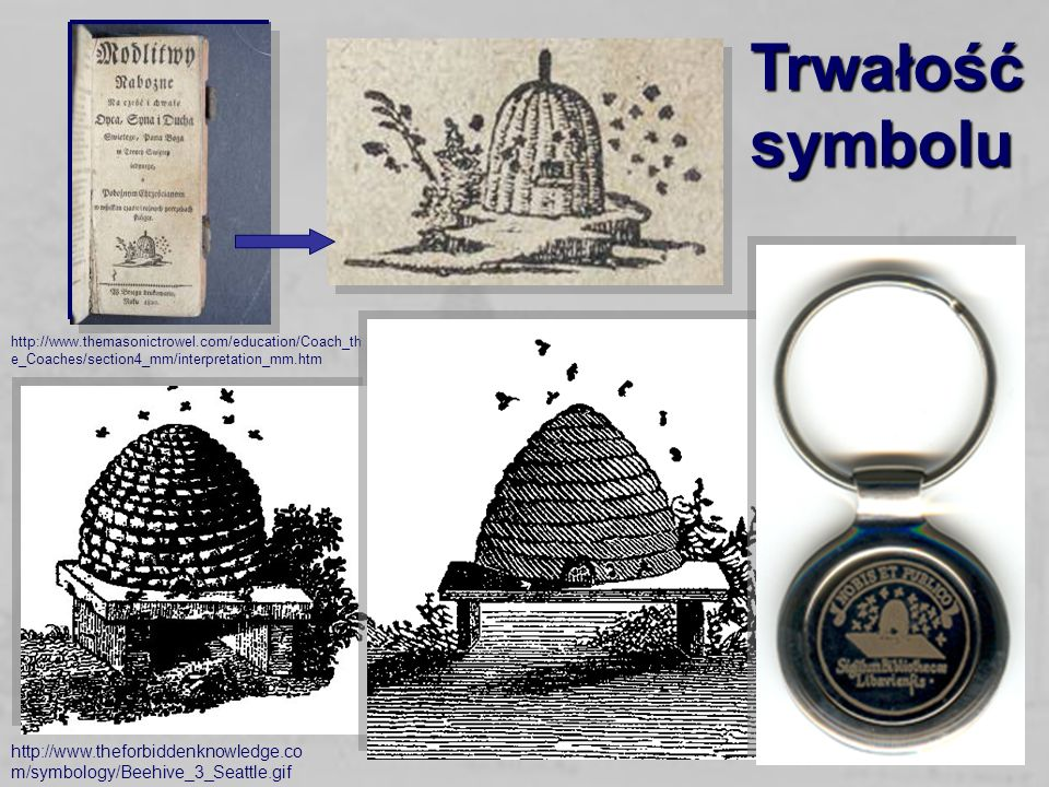 Trwałość symbolu http://www.themasonictrowel.com/education/Coach_the_Coaches/section4_mm/interpretation_mm.htm.