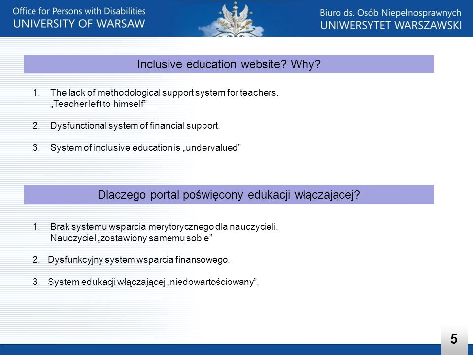 5 Inclusive education website Why