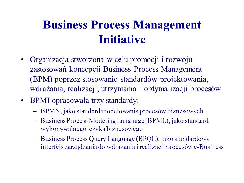 Business Process Management Initiative