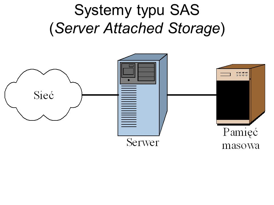 Systemy typu SAS (Server Attached Storage)