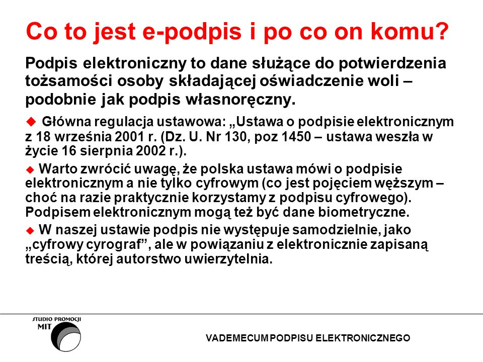 Co to jest e-podpis i po co on komu