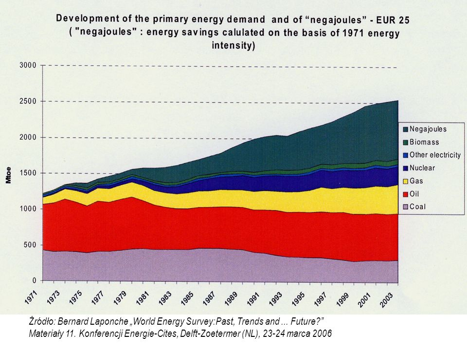 "Żródło: Bernard Laponche ""World Energy Survey:Past, Trends and. Future"