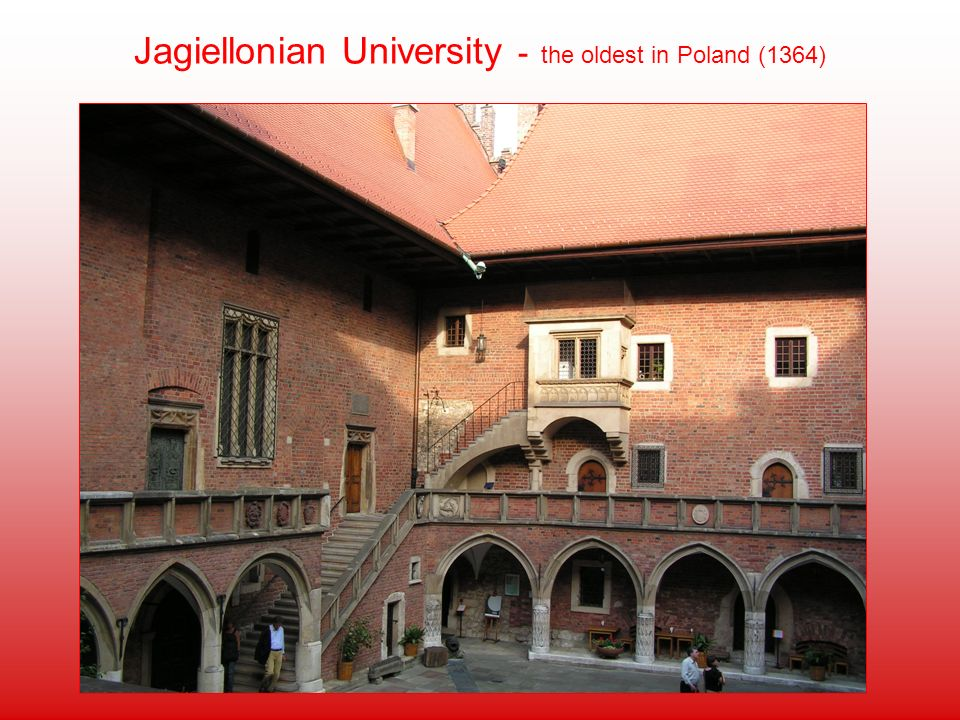 Jagiellonian University - the oldest in Poland (1364)