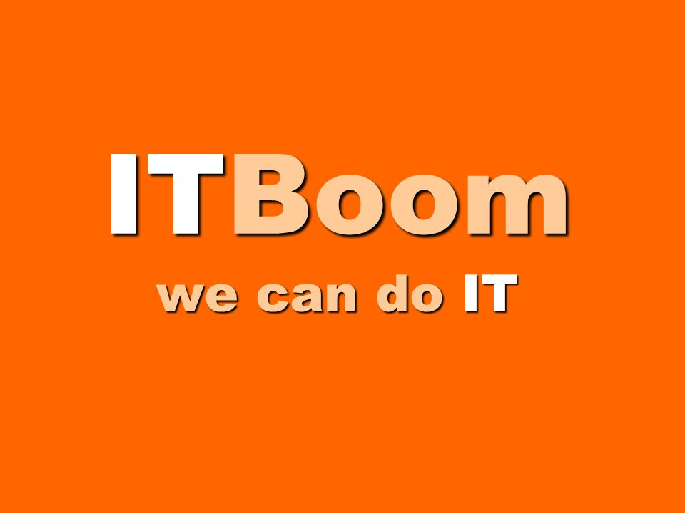 ITBoom we can do IT