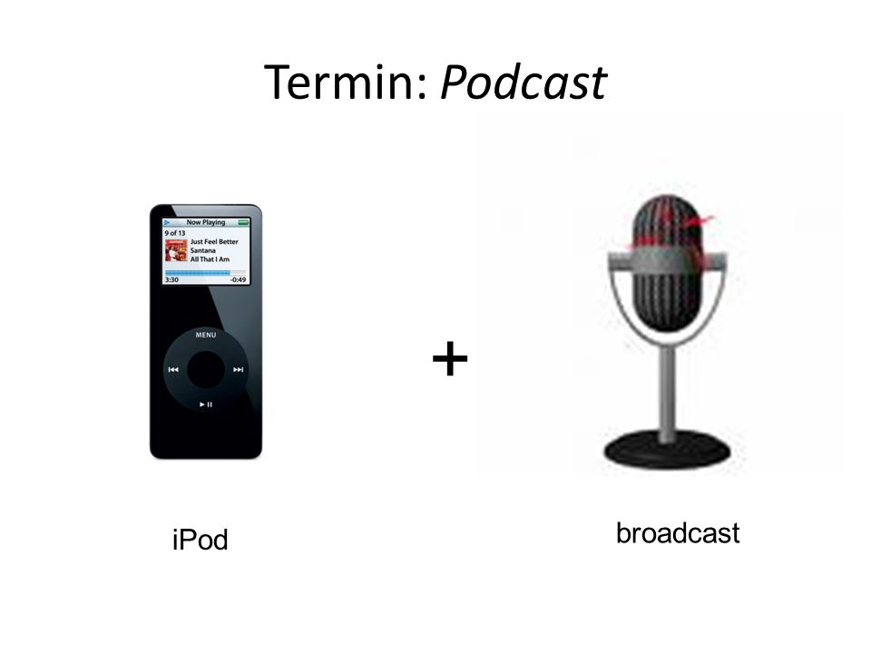 Termin: Podcast + broadcast iPod