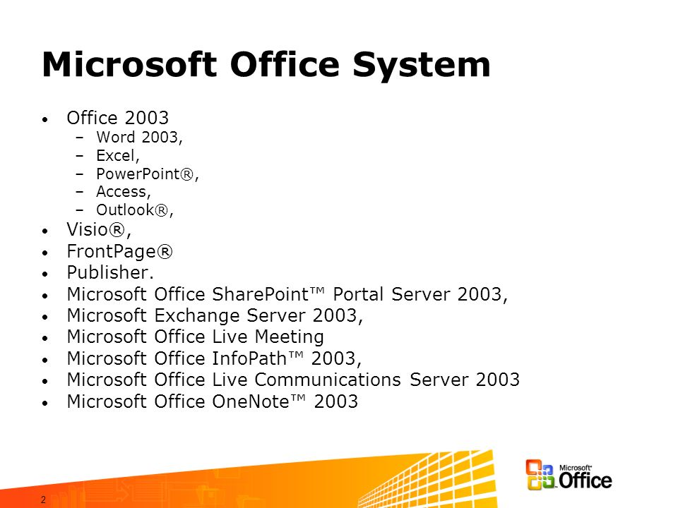 Microsoft Office System