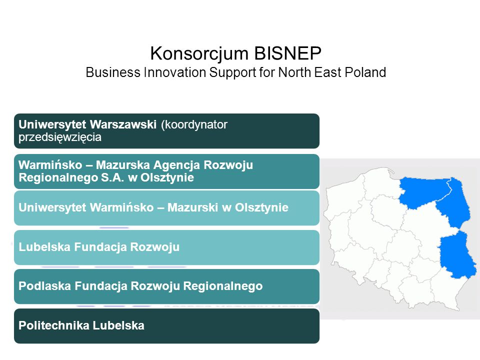 Konsorcjum BISNEP Business Innovation Support for North East Poland