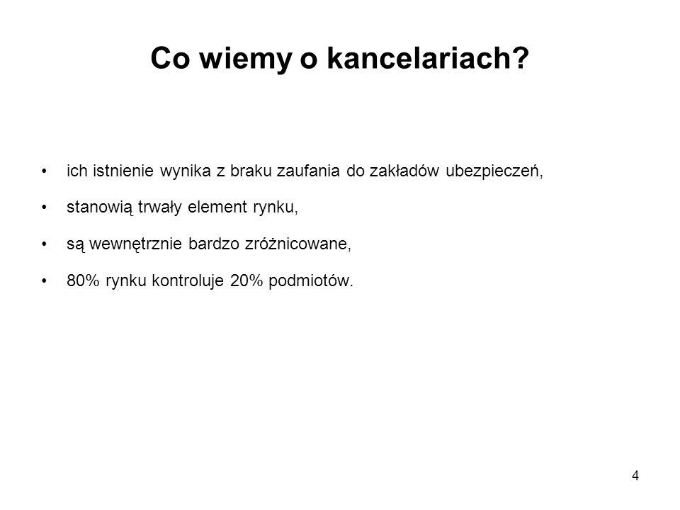Co wiemy o kancelariach