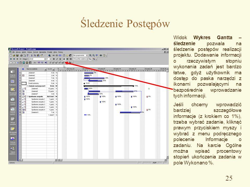 Zarzdzanie projektem ppt pobierz 25 ledzenie postpw widok wykres gantta ccuart Image collections