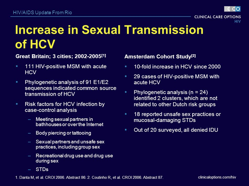 Increase in Sexual Transmission of HCV