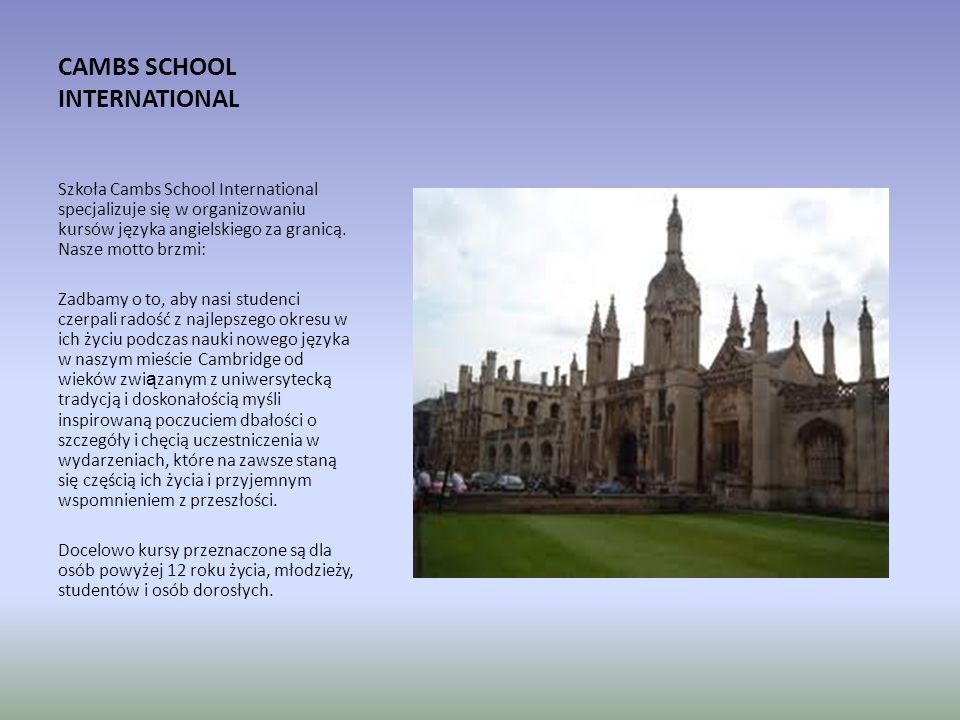 CAMBS SCHOOL INTERNATIONAL