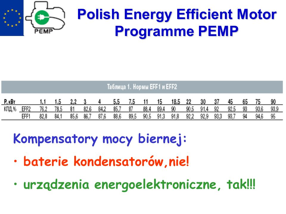Polish Energy Efficient Motor Programme PEMP