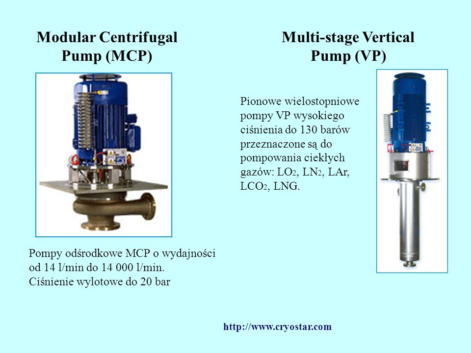 Modular Centrifugal Pump (MCP) Multi-stage Vertical Pump (VP)
