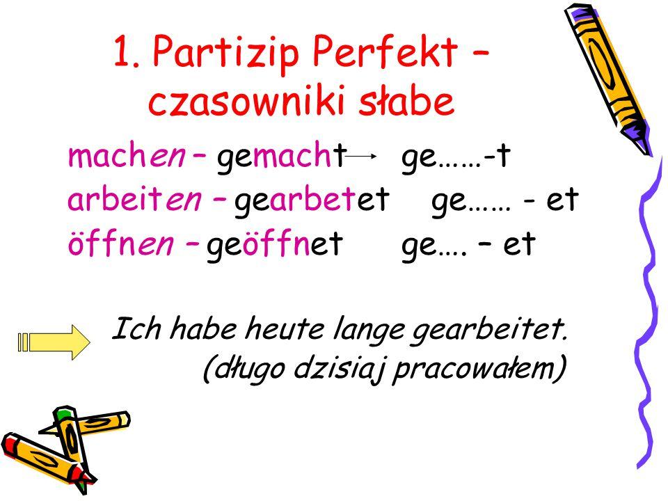 czasowniki mocne niemiecki