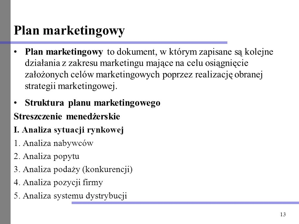 Plan marketingowy