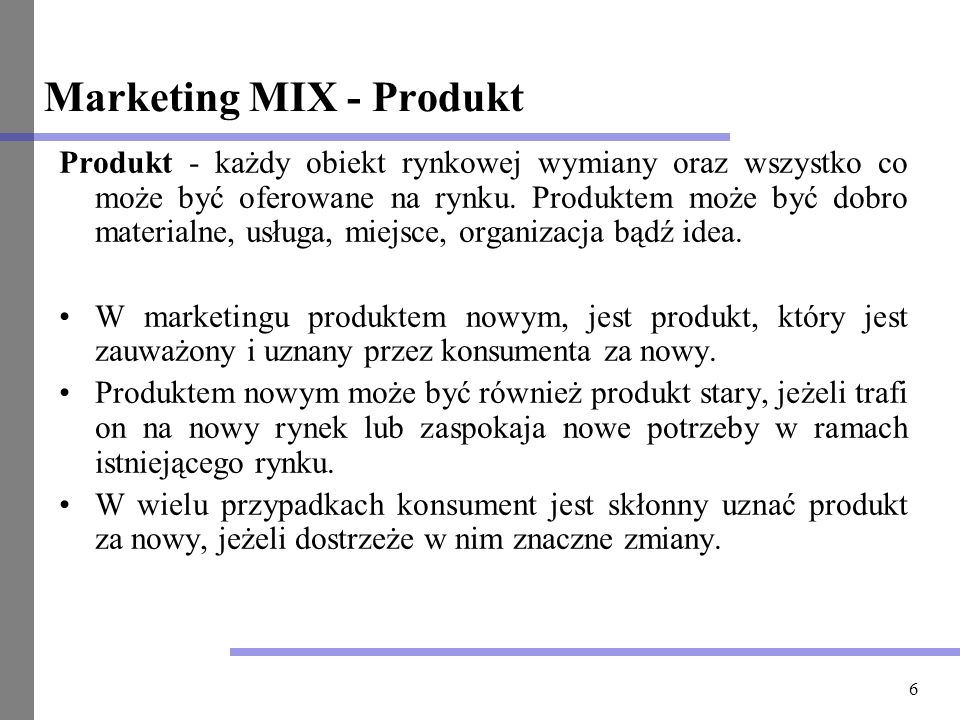 Marketing MIX - Produkt