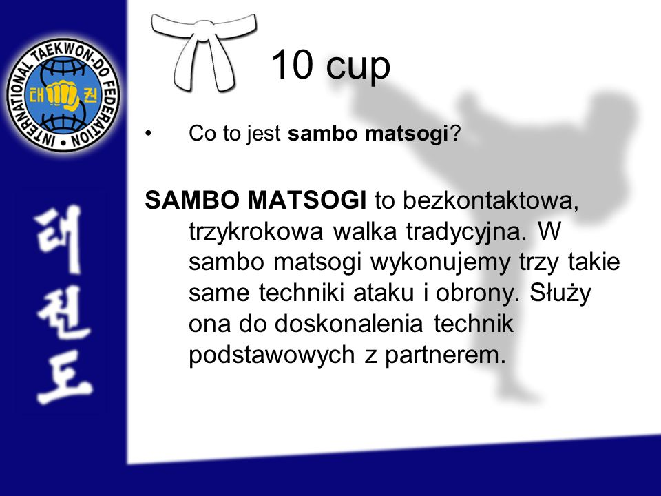 10 cup Co to jest sambo matsogi